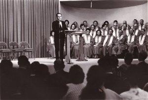 Howard Ervin Speaking at Oral Roberts Partners Seminar in 1965.